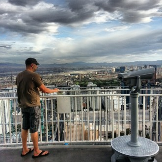 Mike at the top of the Stratosphere. Las Vegas, NV