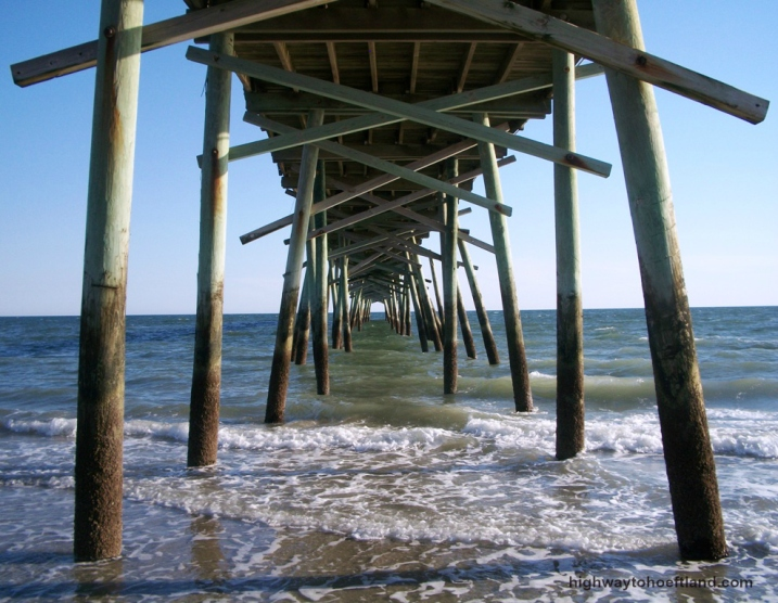 A pier on the North Carolina Coast.