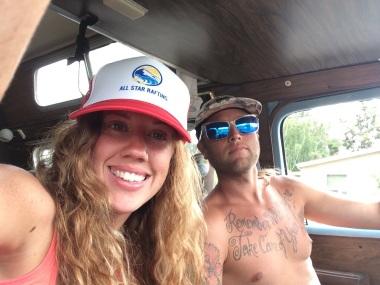 Kim and Danny in the Van