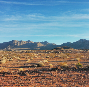 Nevada land outside of Valley of Fire