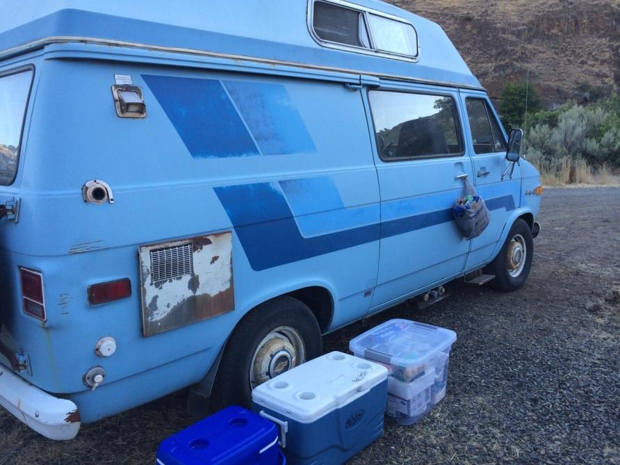 Kim and Daniel's vintage van