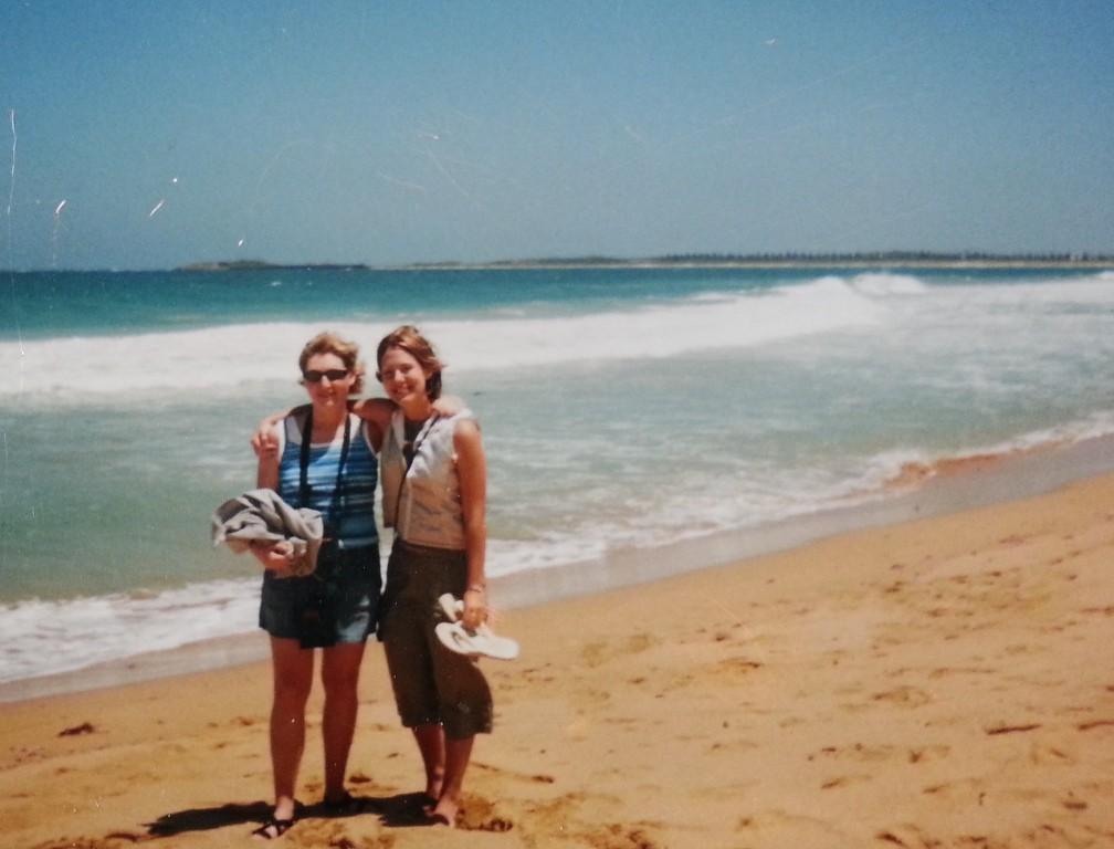 Tara, left, and Kristin, right, in Australia, 1999.