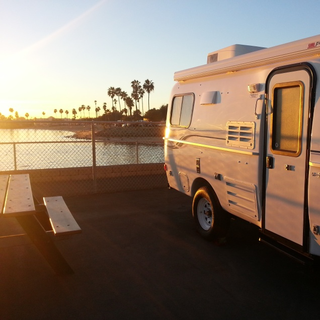 Site # 52 at Mission Bay RV Park in San Diego.