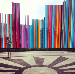 Outside the Smith Center in Symphony Park