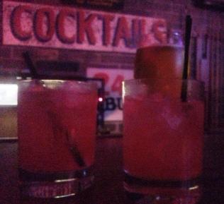 Strawberry Fields drinks at Atomic Liquors