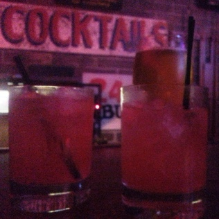 Strawberry Fields drinks at Atomic Liquors