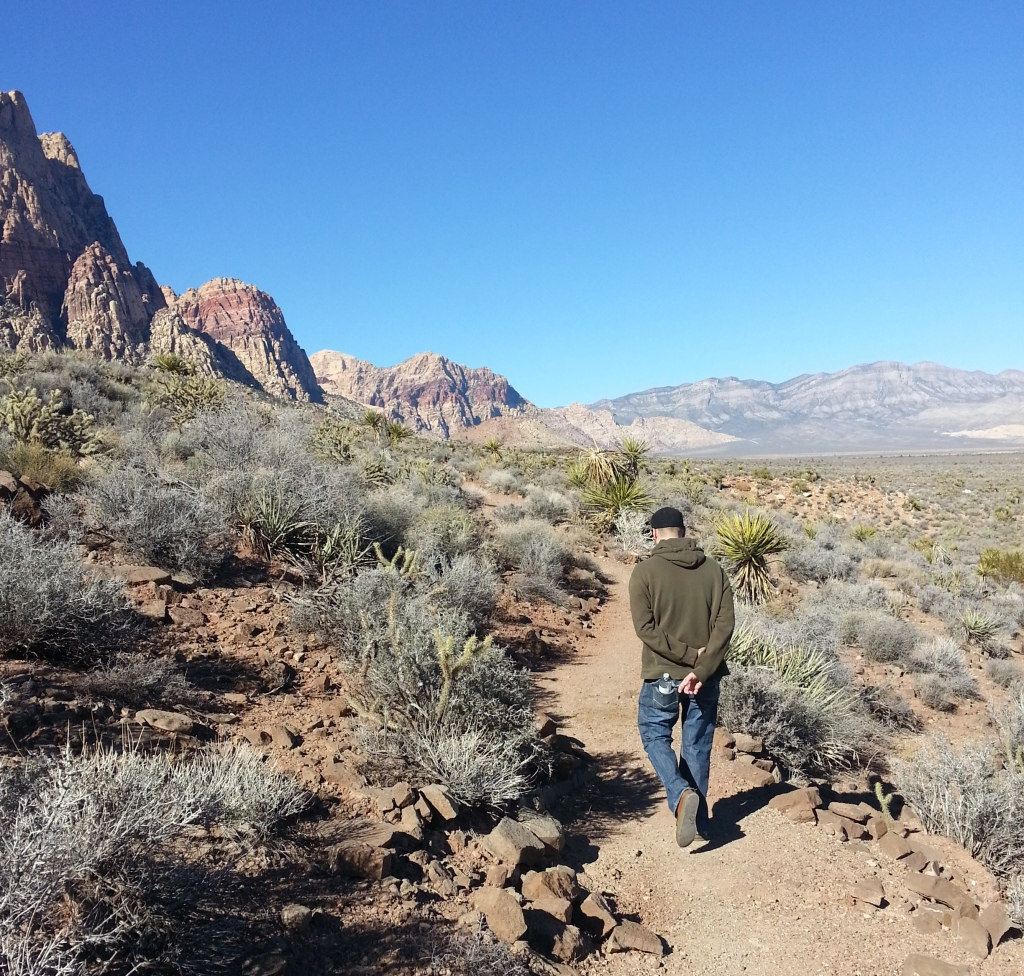 Mike, on the Spring Mountain Ranch Trail in Southern NV.