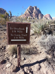 Sign at trail at Spring Mtn Ranch