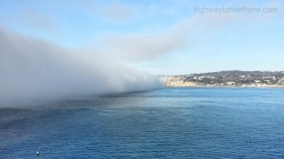 Fog in La Jolla, California.