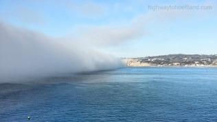 Fog in La Jolla, California.