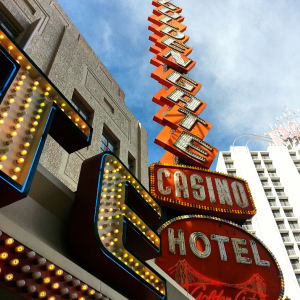 The Golden Gate Casino, neon sign.
