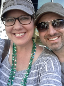 Kristin and Mike, enjoying an entertaining Saint Patrick's Day in Las Vegas.