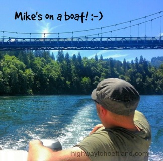 Mike boating at Lake Merwin -