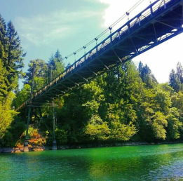 Passing under a bridge on Lake Merwin