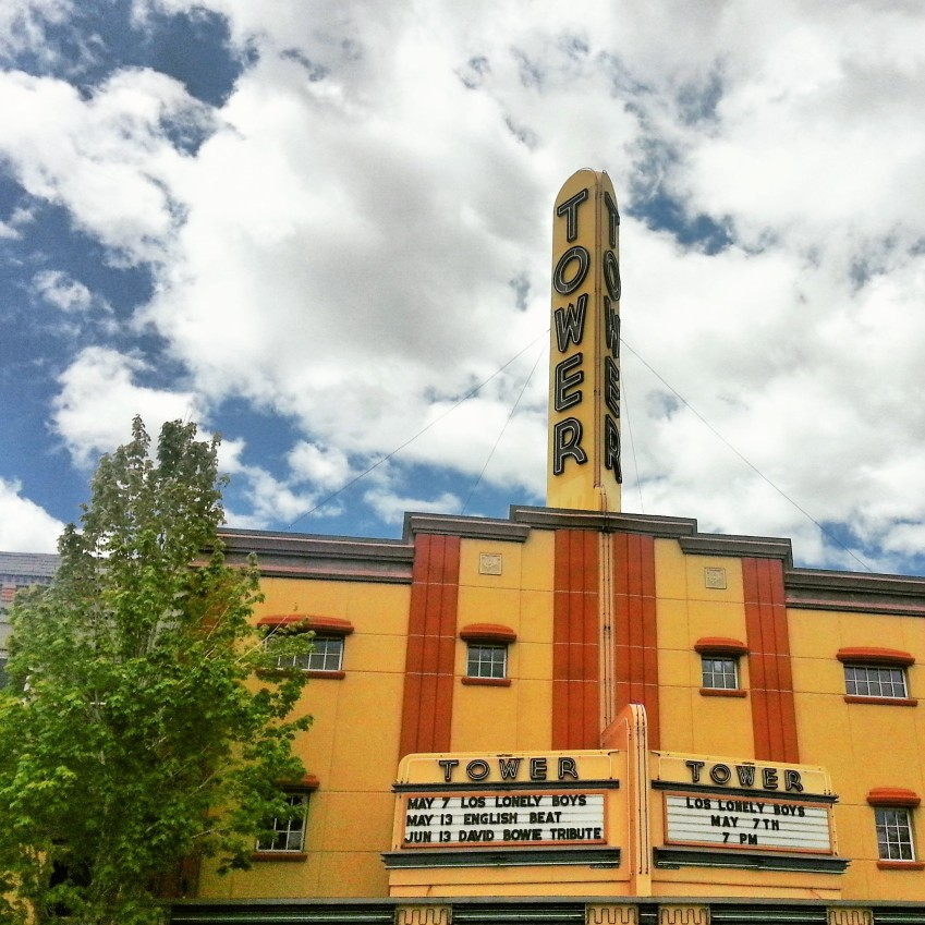 The historic Tower theater, downtown.