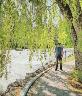 Mike, standing on the Deschutes River Trail.