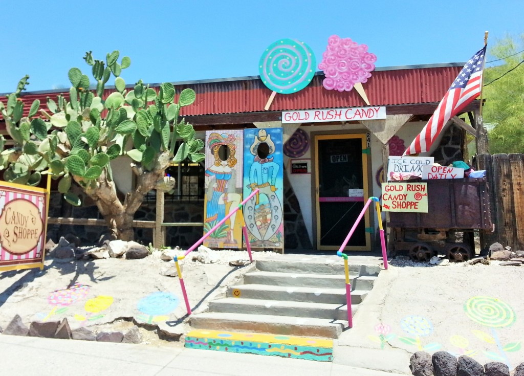 A cute little shop in the charming burro-filled town of Oatman, AZ.