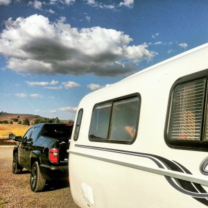 Our Casita Travel Trailer and Honda Ridgeline Truck.