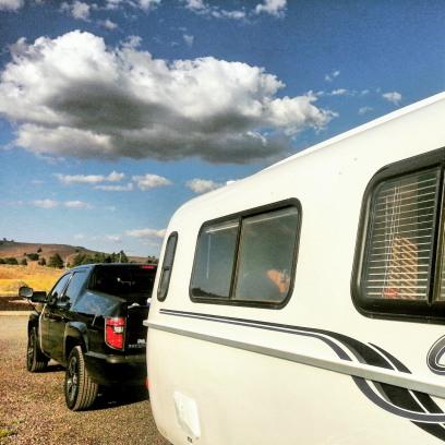 Our Casita Travel Trailer and Honda Ridgeline Truck.